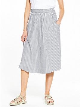 v-by-very-stripe-cotton-midi-skirt