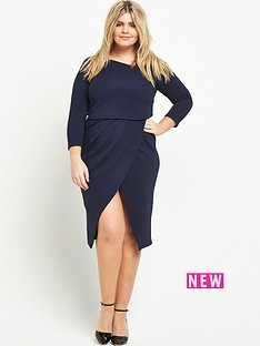 so-fabulous-asymmetric-2-in-1-textured-midi-dress-navy