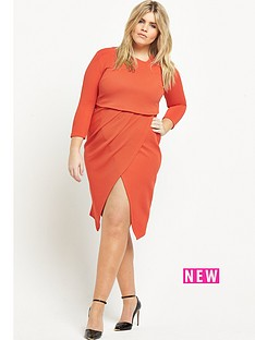 so-fabulous-asymmetric-2-in-1-textured-midi-dress-orange