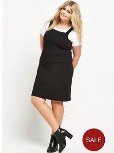 so-fabulous-stretch-pique-pinafore-dress-black