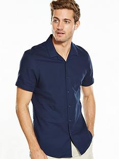 v-by-very-short-sleeve-cuban-collar-shirt