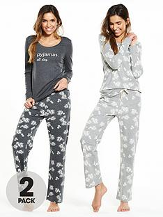 v-by-very-2-pack-floral-long-sleeved-pyjamas
