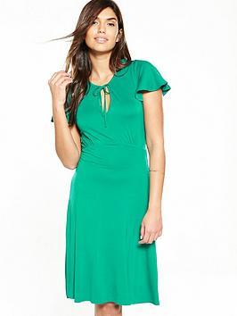 v-by-very-tie-neck-dress-green