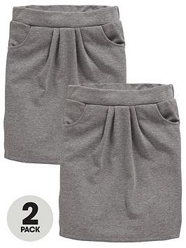 v-by-very-schoolwear-girls-jersey-school-tulip-skirts-grey-2-pack