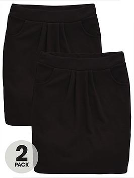 v-by-very-schoolwear-girls-jersey-school-tulip-skirts-black-2-pack