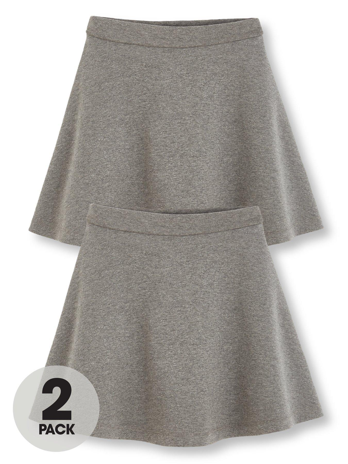 Grey 14-15 Years V By Very Girls 2 Pack Jersey Tulip School Skirts