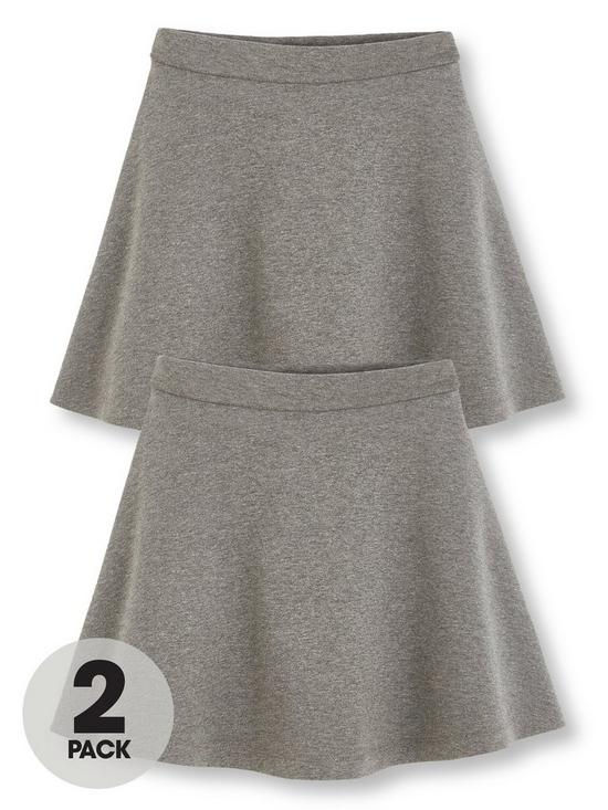 b3fa524051 V by Very Girls 2 Pack Jersey School Skater Skirts - Grey | very.co.uk