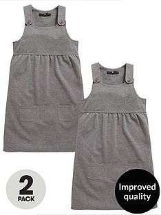 v-by-very-schoolwear-girls-jersey-pinafores-ndash-grey-2-pack