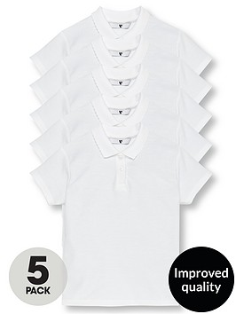 v-by-very-girls-5-pack-school-polo-shirts