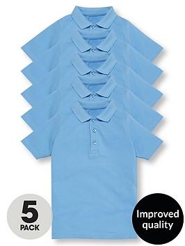 v-by-very-schoolwear-boys-school-polo-shirts-blue-5-pack