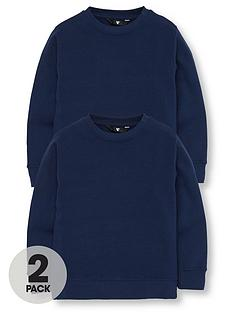 v-by-very-unisex-2-pack-crew-neck-school-sweatshirts-navy