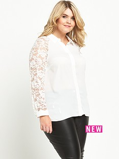 so-fabulous-lace-sleeve-longline-shirt-ivory