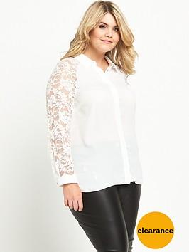 v-by-very-curve-lace-sleeve-longline-shirt-ivory
