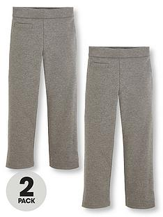 v-by-very-schoolwear-girls-jersey-school-trousers-grey-2-pack