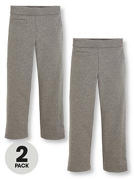 v-by-very-schoolwear-girls-jersey-school-trousers-grey-2-pack