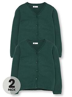 v-by-very-girls-2-pack-knitted-school-cardigans-green