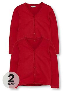 v-by-very-girls-2-pack-knitted-school-cardigans-red