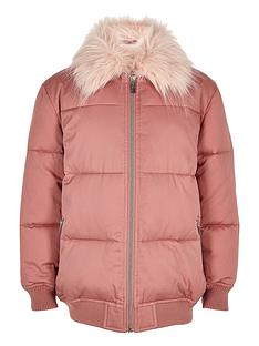 river-island-girls-pink-padded-coat-with-faux-fur-collar