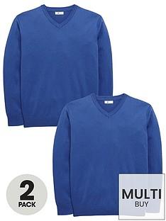 v-by-very-schoolwear-boys-v-neck-school-jumpers-royal-blue-2-pack