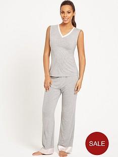 rochelle-humes-spot-trim-lounge-set-grey