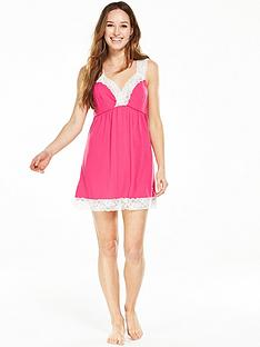 v-by-very-lace-trim-chemise-pinknbsp