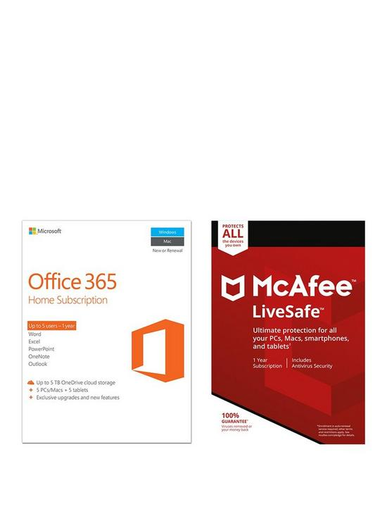 Office 365 Home and McAfee Livesafe