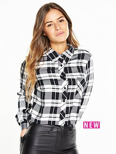 v-by-very-petite-cropped-check-shirt