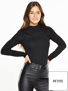 v-by-very-petite-petite-ruffle-detail-bodysuit-blacknbsp