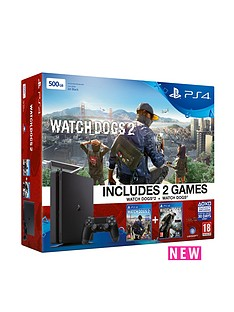 playstation-4-ps4-500gb-black-slim-console-with-watch-dogs-2