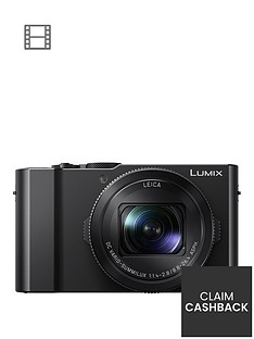 panasonic-lumix-dmc-lx15-201nbspmegapixel-4k-ultra-hd-digital-camera-3x-optical-zoom-3-lcdnbsptiltable-touch-screen-with-up-to-pound100-cashback-black-with-optional-accessory-kit