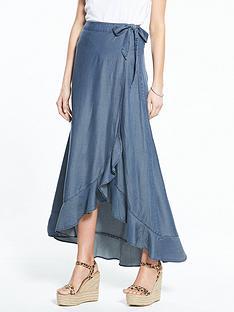 v-by-very-frill-front-tencel-maxi-skirt