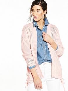 v-by-very-tie-up-side-chunky-cardigan
