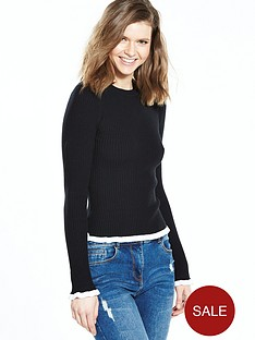 v-by-very-contrast-tipped-frill-cuff-and-hem-jumpernbsp