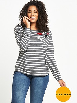 v-by-very-curve-stripe-badge-jersey-t-shirt-greyivorynbsp