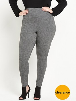 v-by-very-curve-control-panel-textured-legging-grey