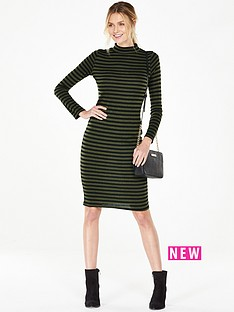 v-by-very-stripe-turtle-neck-bodycon-dress