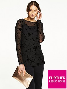v-by-very-star-flock-mesh-top-with-cami