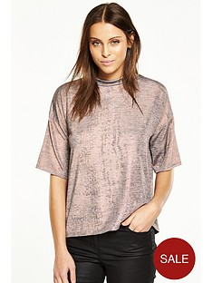 v-by-very-foil-print-turtle-neck-boxy-top
