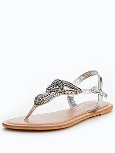 v-by-very-melody-embellished-toepost-sandal-silver