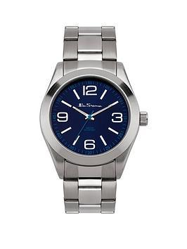 ben-sherman-ben-sherman-mens-blue-dial-silver-strap-watch