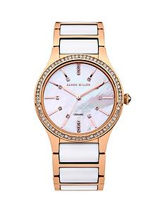 karen-millen-karen-millen-ladies-white-dial-rose-gold-and-white-strap-watch