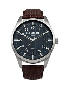 ben-sherman-ben-sherman-mens-blue-dial-brown-strap-watch