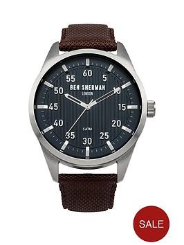ben-sherman-ben-sherman-mens-blue-dial-brown-strap-watch