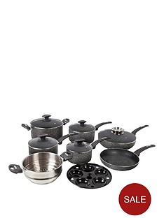 tower-tower-9-piece-coated-pan-set-graphite-black