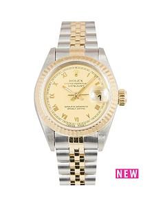 rolex-rolex-bimetal-datejust-champagne-roman-numeral-26mm-dial-steel-amp-18k-yellow-gold-ladies-watch-includ