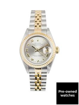 rolex-rolex-bimetal-datejust-grey-roman-numeral-26mm-dial-steel-amp-18k-yellow-gold-ladies-watch-including-p