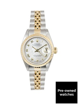rolex-rolex-bimetal-datejust-mother-of-pearl-roman-numeral-26mm-dial-steel-and-18k-yellow-gold-ladies-watc