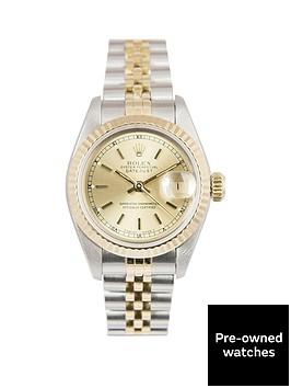 rolex-rolex-bimetal-datejust-champagne-baton-26mm-dial-steel-amp-18k-yellow-gold-ladies-watch-including-pape