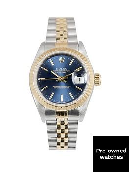 rolex-rolex-bimetal-datejust-champagne-baton-26mm-dial-steel-and-18k-yellow-gold-ladies-watch-1991-pre-o