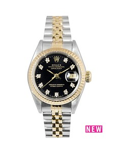 rolex-rolex-bimetal-datejust-original-black-diamond-26mm-dial-steel-amp-18k-yellow-gold-ladies-watch-1990